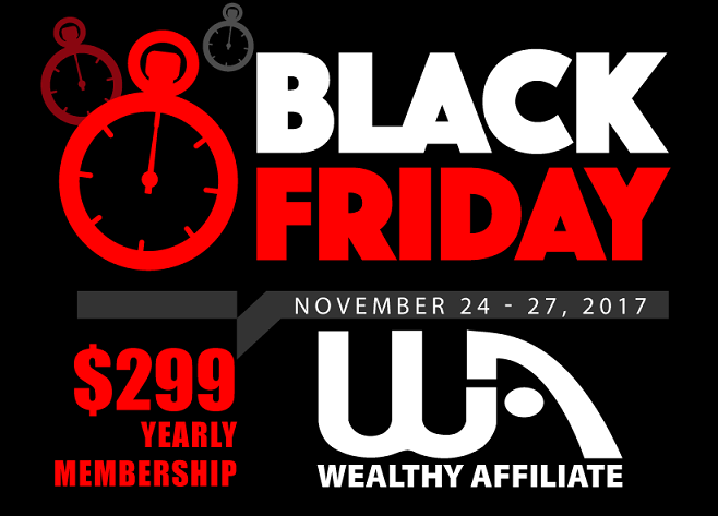 Wealthy Affiliate Black Friday to Cyber Monday Yearly Membership Sale